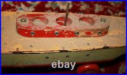 Liberty Playthings 1930 era Mechanical Wooden WInd-up Aircraft Carrier
