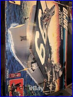 MIB GI Joe USS Flagg Aircraft Carrier Playset Hasbro Please Read