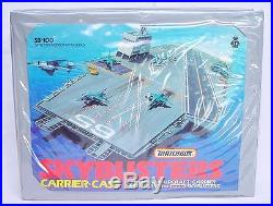 Matchbox SKYBUSTERS LEAR JET F-16 SPACE SHUTTLE + AIRCRAFT CARRIER Case MIB`76