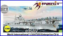 Merit International 65302 1350th USS Aircraft Carrier Enterprise CV-6 1942