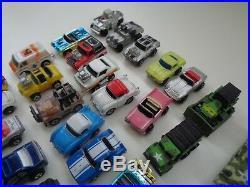 Micro Machines Lot Of 54 Vehicle Car Aircraft Boat Tank Mini Porsche Carrier