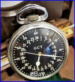 Military Navy Hamilton 4992B, pocket watch, AIRCRAFT CARRIER ARA INDEPENDENCIA