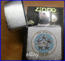 NEW NIB Zippo lighter USS Nimitz CVN 68 Navy ship aircraft carrier warship