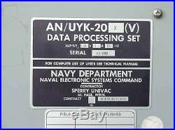 Navy USS Kennedy Aircraft Carrier Sperry AN/UYK-20 Computer Core Memory UNIVAC