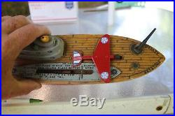 Nother 70 YRS OLD Rare WWII Keystone Aircraft Carrier Ship 15 with airplane GREAT