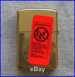 Polished Brass ZIPPO Lighter Engraved Both Sides America CV 66 Aircraft Carrier