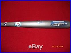 President Bush Commemorative USS Bush aircraft carrier bat-autographed