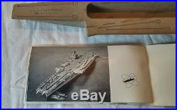RARE USS Enterprise Nuclear Aircraft Carrier Builders Ash Tray With Booklet