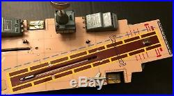 Rare 1950's Marx 20Inch Tin Aircraft Carrier Battery Operated Multi Action Works