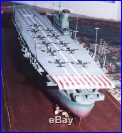 Rare Doyusha 1/250 Japanese WW2 Aircraft Carrier SHINANO, Motorized, unassembled