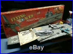 Rare Vintage 1975 Mattel Flying Aces Attack Carrier Flagship Aircraft 9375 USA