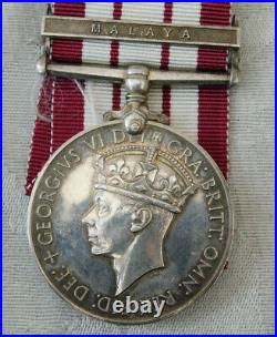 Royal Navy Gsm Malaya Medal Aircraft Carrier Casualty George Medal Action Harman