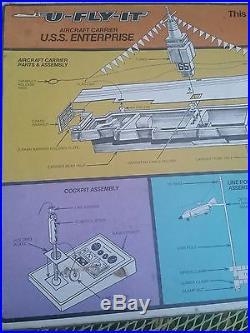 Schaper U-Fly-It Aircraft Carrier Play Set USS Enterprise. Not complete