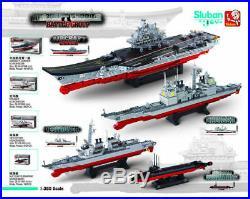 Sluban Aircraft Carrier Cruiser Destroyer Submarine Building Block Assemble014
