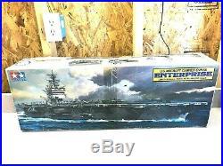 Tamiya 1985 1350 Cvn-65 Uss Enterprise Us Aircraft Carrier Model Kit- Nib #7307
