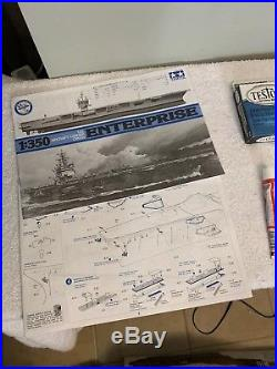 Tamiya CVN-65 Aircraft Carrier Enterprise 1/350 Scale Plastic Model Kit Open Box