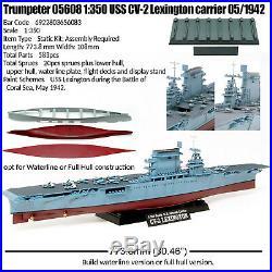 Trumpeter 1/350 Uss Cv-2 Lexington Aircraft Carrier 05/1942 Kit 05608