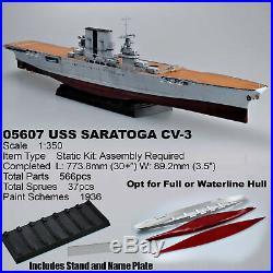 Trumpeter 1/350 Uss Saratoga Cv-3 Aircraft Carrier Kit 03701