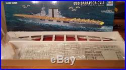 Trumpeter 1350 USS Saratoga CV3 Aircraft Carrier Plastic Model Kit TSM5607