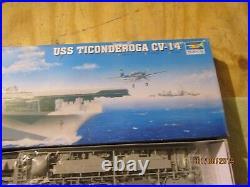 Trumpeter 1350 USS Ticonderoga CV-14 Aircraft Carrier Plastic Kit #05609