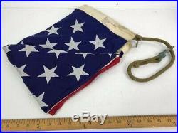 US Flag Flown from Attack Aircraft Carrier Vietnam war