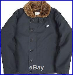 USN N-1 khaki Aircraft carrier Deck Jacket YMCLKY Vtg Clothes Fashion Bland Men