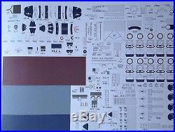USS Aircraft Carrier Ticonderoga Paper Model Scale 1200 + Laser Frames +Details