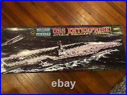 USS Enterprise Aircraft Carrier by Aurora 1961 -3ft long Model Kit