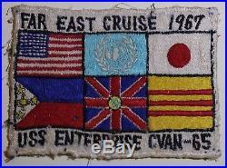 USS Enterprise CVAN-65 Aircraft Carrier Far East Cruise 1967 Navy Patch