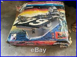 USS FLAGG GI JOE AIRCRAFT CARRIER Mostly complete and completely epic