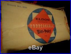 Unique Vintage Eldon Big Poly Toys Aircraft Carrier Us Navy Boxed