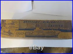 (VERY RARE) 1940s KEYSTONE WOODEN U. S. AIRCRAFT CARRIER # C-12 BOX #219