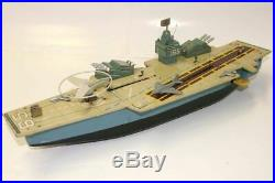 Very Rare Vintage Battery Operated Marx Aircraft Carrier Great Condition