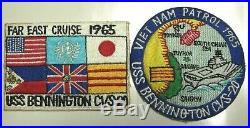 Vietnam War 1965 Two Cruise Patches USS Bennington CVS-20 Aircraft Carrier