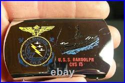 Vietnam War Era Zippo Lighter co Belt Buckle USS Randolph CVS15 Aircraft Carrier
