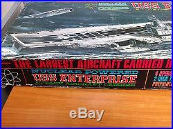 Vintage 1961 Aurora Model Kit USS Enterprise Attack Aircraft Carrier