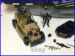 Vintage 1980s To 2000s GI Joe Mixed Lot Aircraft Carrier Figures Vehicles