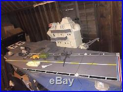 Vintage 1985 GI Joe Aircraft Carrier Playset USS Flagg