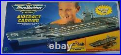 Vintage 1999 Military Micro Machines 30in+ Aircraft Carrier Hasbro