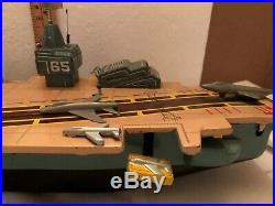 Vintage Battery Operated Marx Aircraft Carrier Great Condition