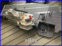 Vintage G. I. Joe USS Flagg Aircraft Carrier 1985 Hasbro Playset 7 ft