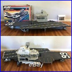 Vintage Hasbro GI JOE 1985 U. S. S. USS FLAGG Aircraft Carrier with BOX Toy PLAYSET