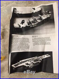 Vintage Parts Lot 1960's Remco Mighty Matilda Aircraft Carrier With Accessories