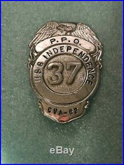 Vintage US Navy Decom Aircraft Carrier USS Independence CVA-62 PPO Police Badge