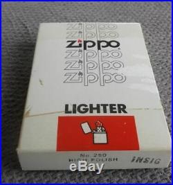 Vintage Un-struck John F. Kennedy CV 67 Aircraft Carrier Zippo Lighter In Box