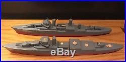 Vintage Wooden Toy Model Battleship Aircraft Carrier Submarine Art Navy Military